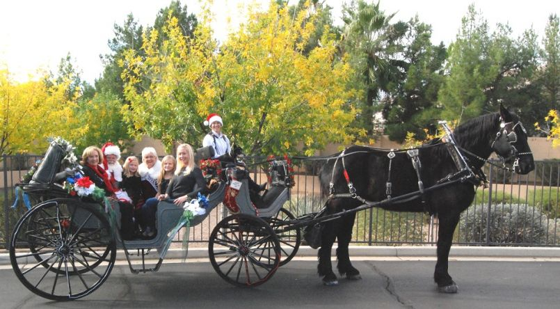 Family fun with the carriage rides with Santa.