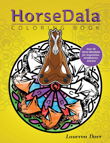 HorseDalaColoring Book Front Cover