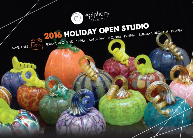Visit the epiphany glass studios Holiday Show the first weekend in December!