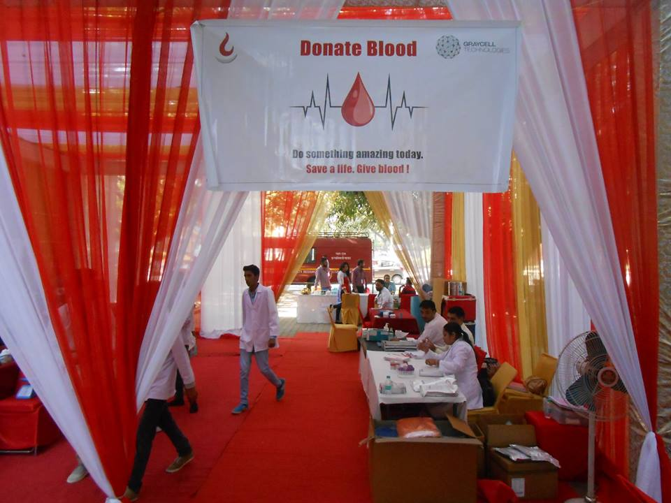 The 7th Annual GrayCell Blood Donation Camp