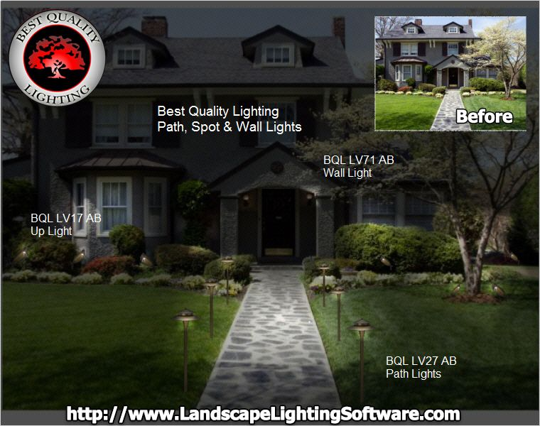Best Quality Lighting fixtures are placed using Landscape Lighting Software