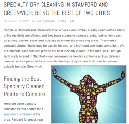 Specialty Cleaners - Stamford CT