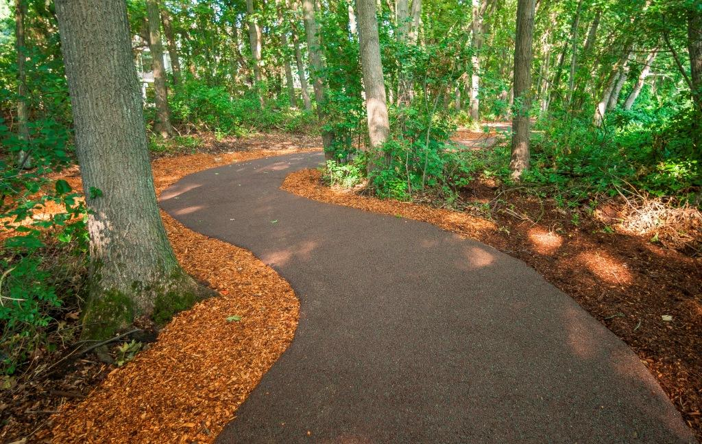 Wellesley Office Park Walking Path Paved with Porous Pave