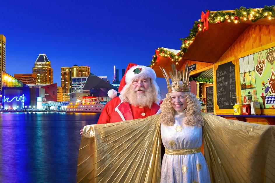 Christmas Village Returns To Baltiomore S Inner Harbor For