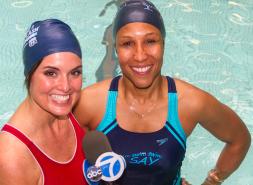 Agnes Davis Talks Swimming with WABC-NY