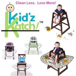 Kid'z Katch! works on most high chairs at home and at restaurants