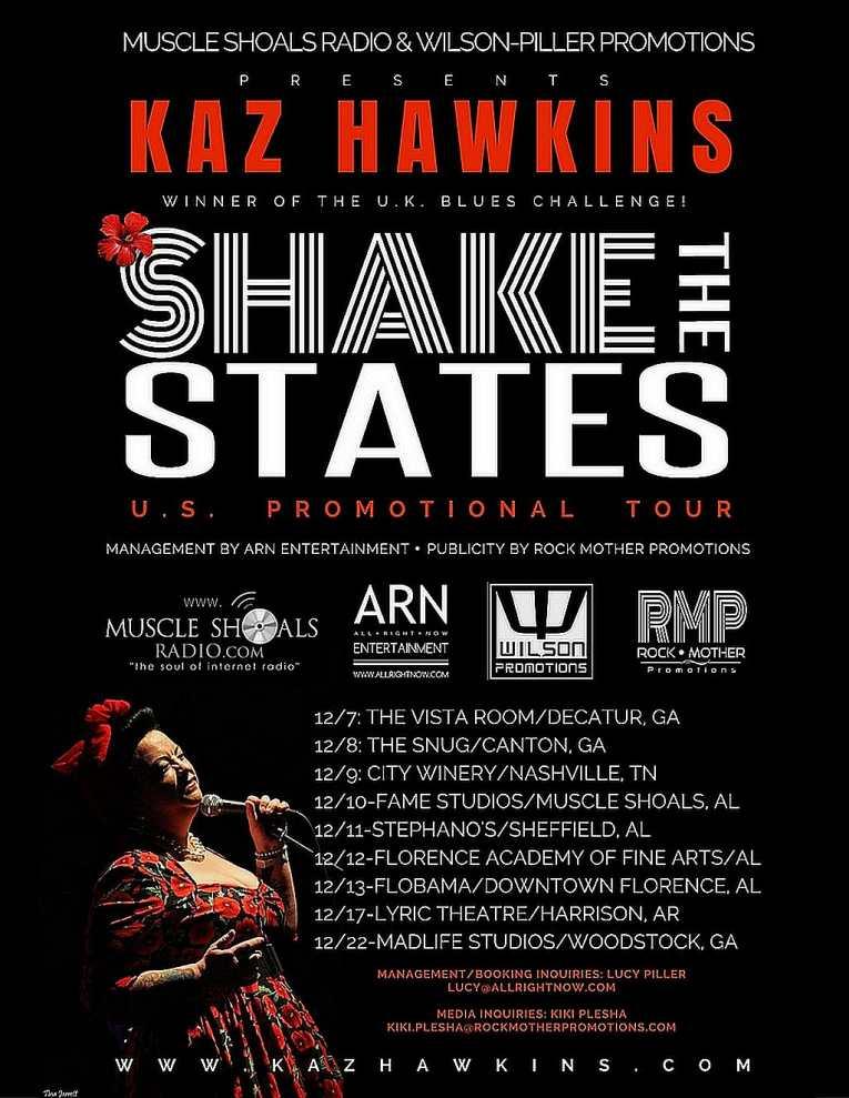 Kaz Hawkins U.S. Promotional Tour