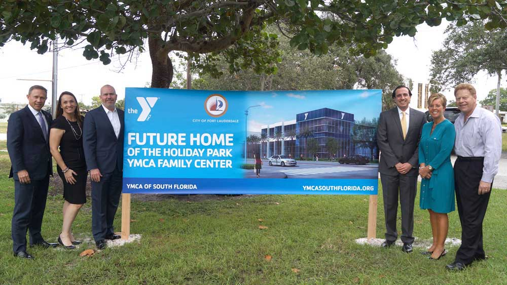 YMCA board members & Shutts attorneys at the site of the future YMCA in Ft. Laud