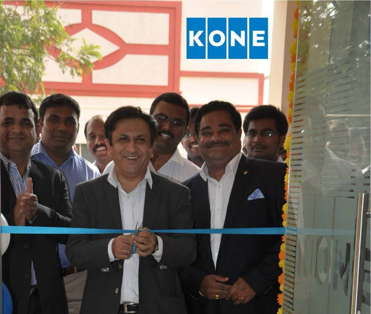 Mr. Amit Gossain, MD KONE India inaugurating its N