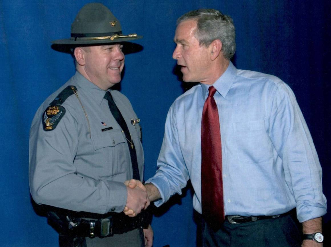 Lt. Matt Gurwell (Ret.) and President Bush