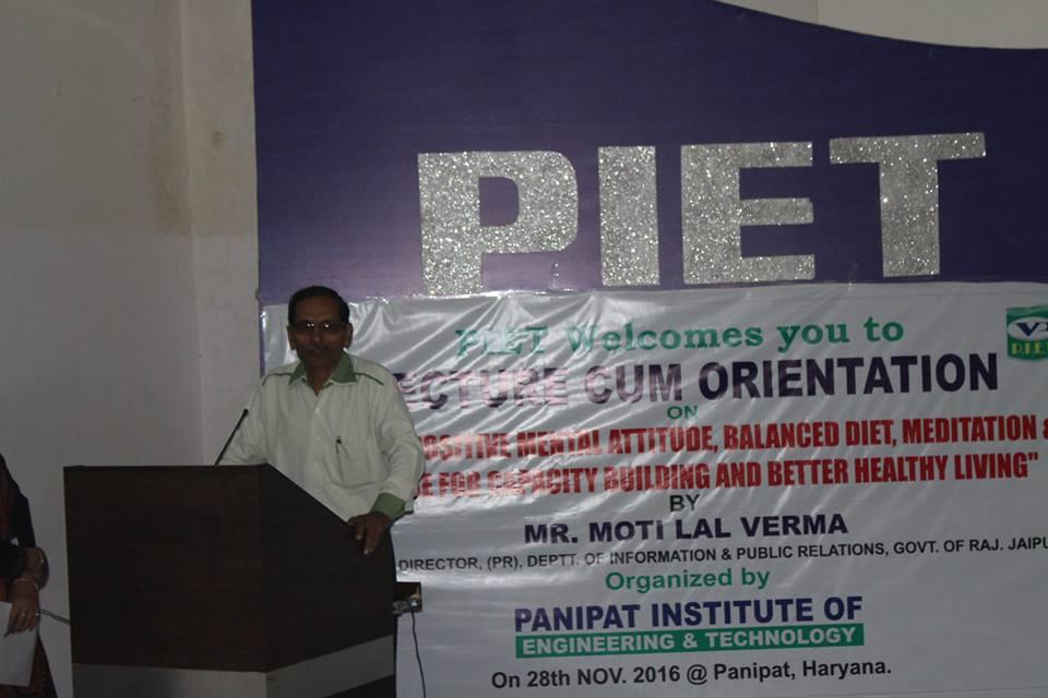 PIET Healthy Living Seminar