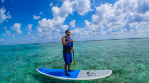 Coral Island SUP with Norm Hann Expeditions in Belize