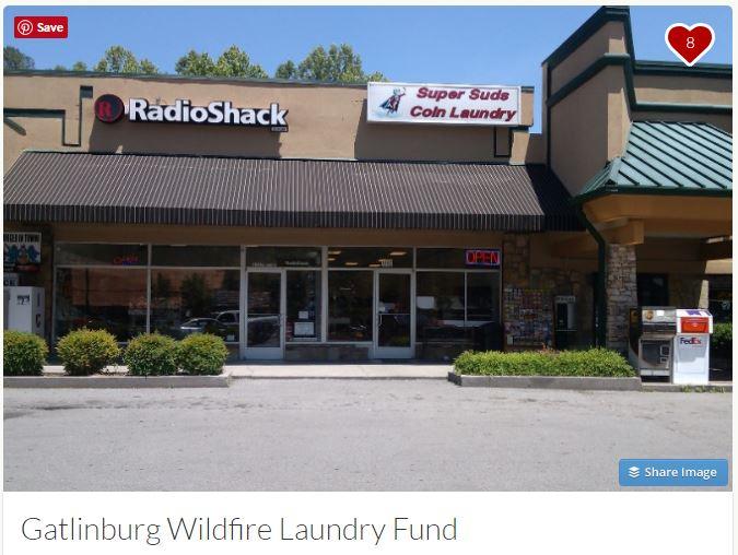 Super Suds Coin Laundry gofundme.com/gatlinburg-wildfire-laundry-fund