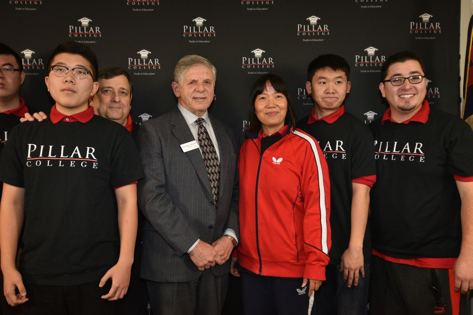 Olympian Lily Yip and Dr. David E. Schroeder, President