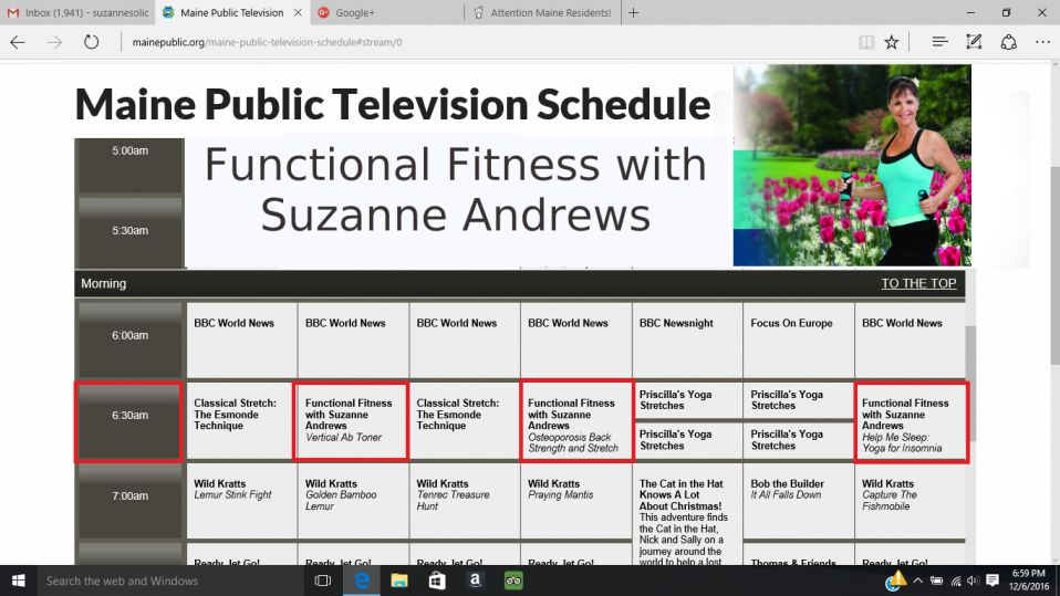 Functional Fitness with Suzanne Andrews on Maine Public Television
