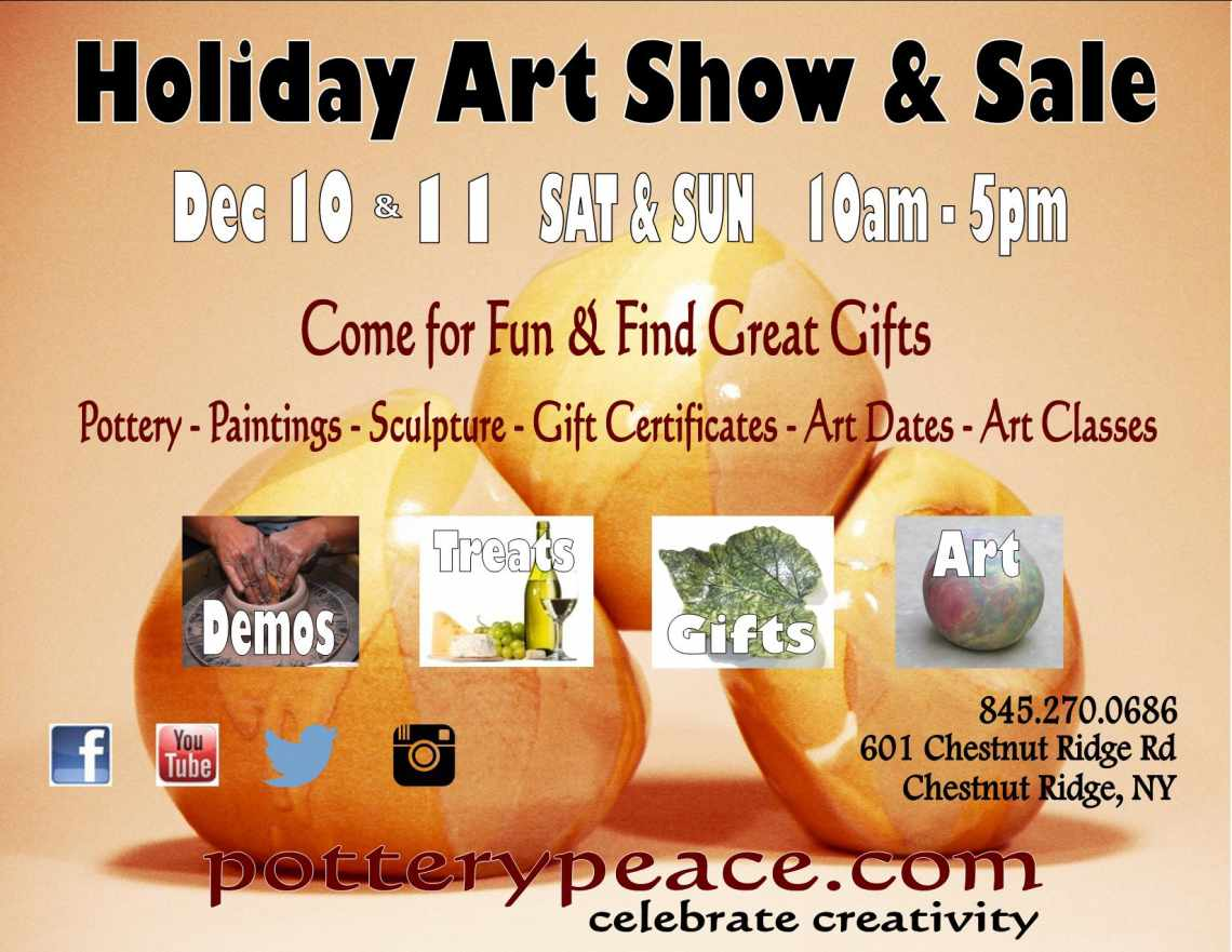 potterypeace Art Show & Sale Dec 10-11 2016 - You're Invited!