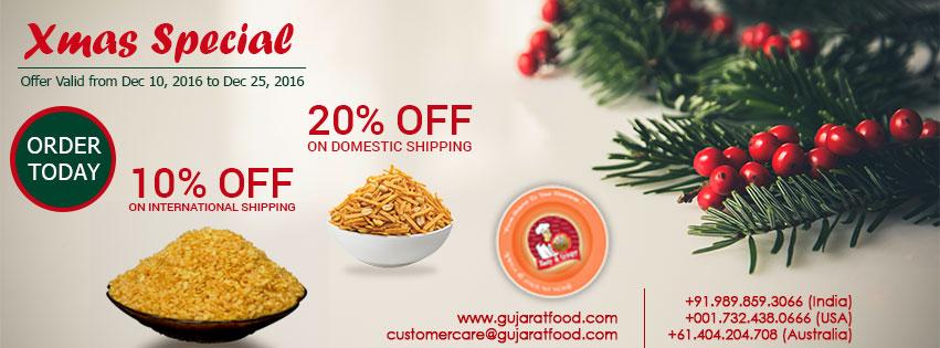 Christmas Special Discounts - GujaratFood.com