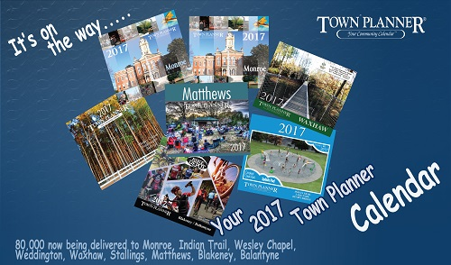 TownPlanner Calendar NC Covers for 2017