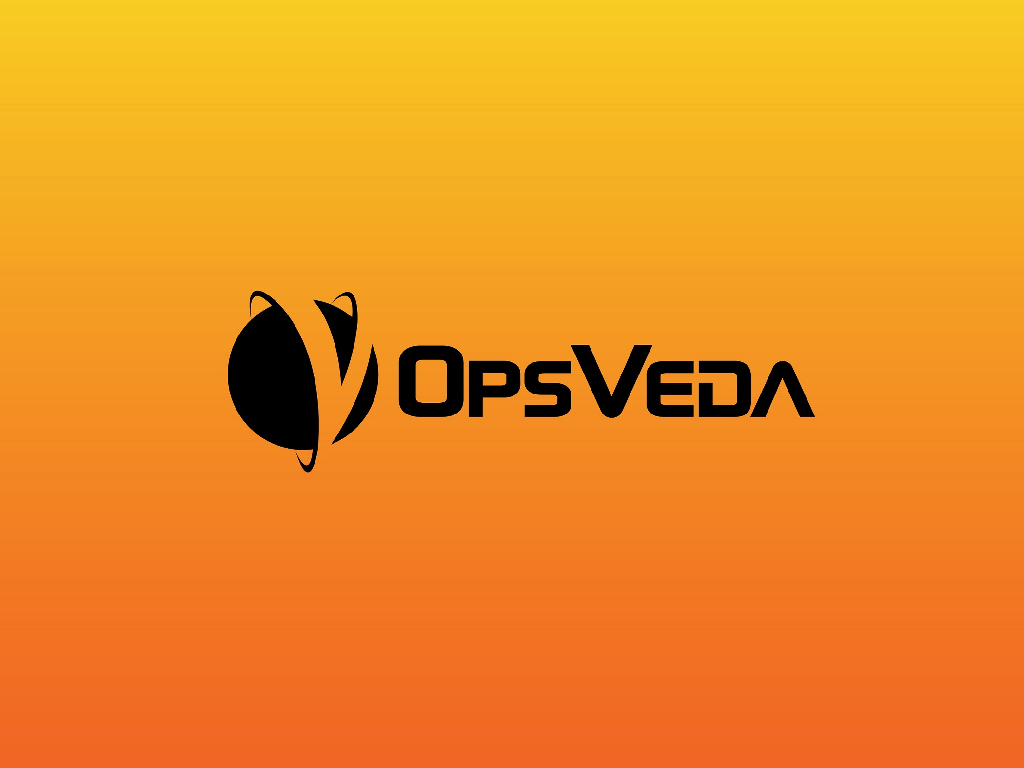 OpsVeda - black on orange