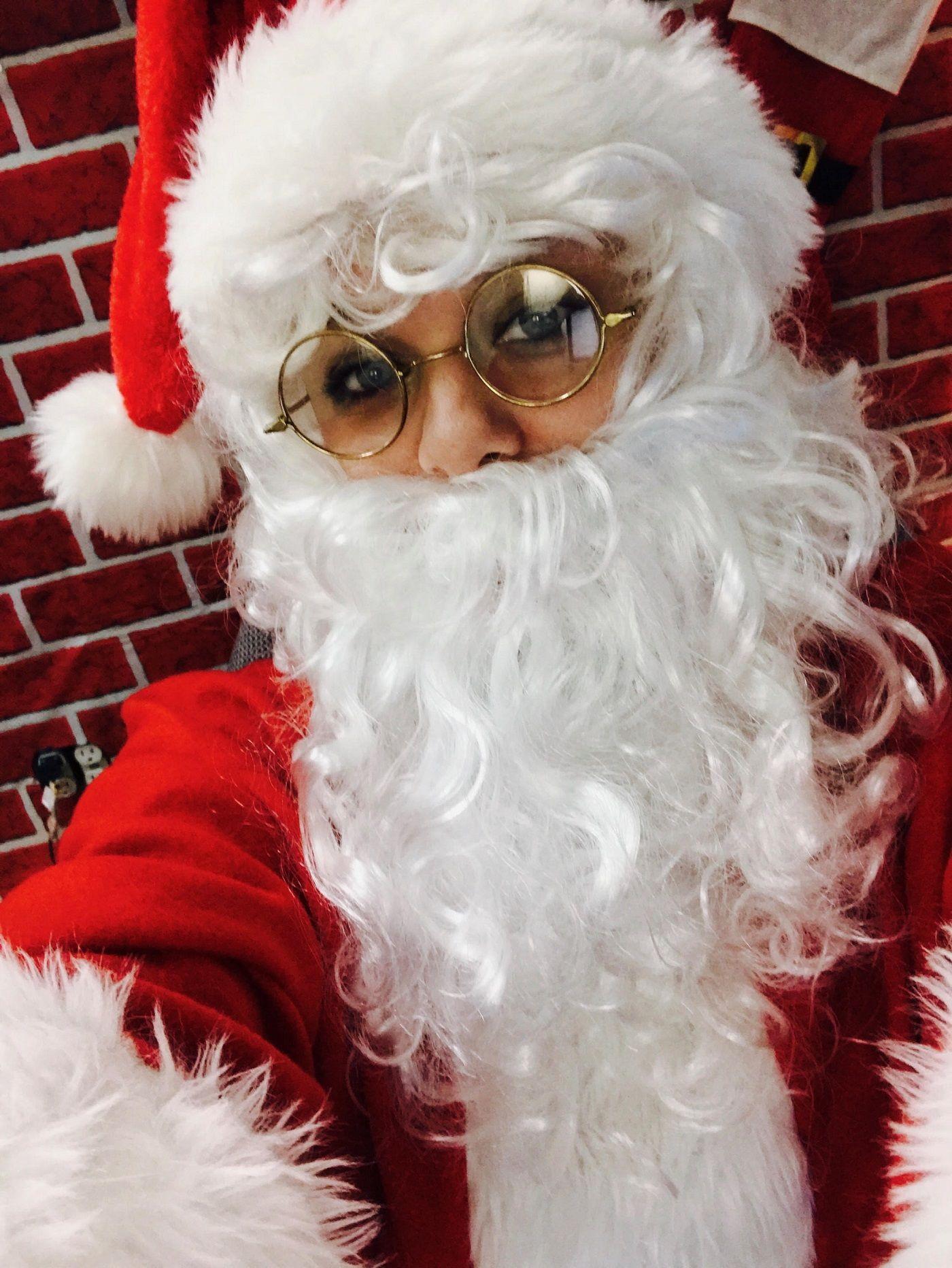 """Felicia Bailey as a """"Signing Santa"""""""