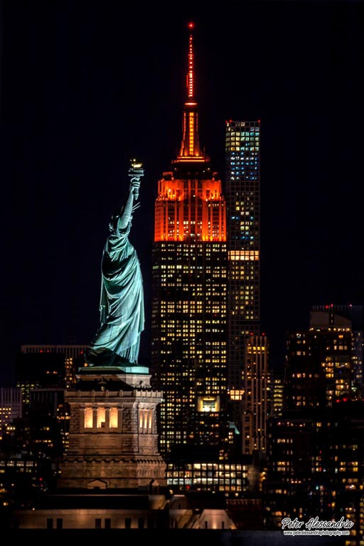 Empire State + Statue of Liberty