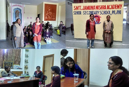 JP Morgan Chase New York VP Sutapa Chattopadhyay Visits JMA Pilani Rajasthan