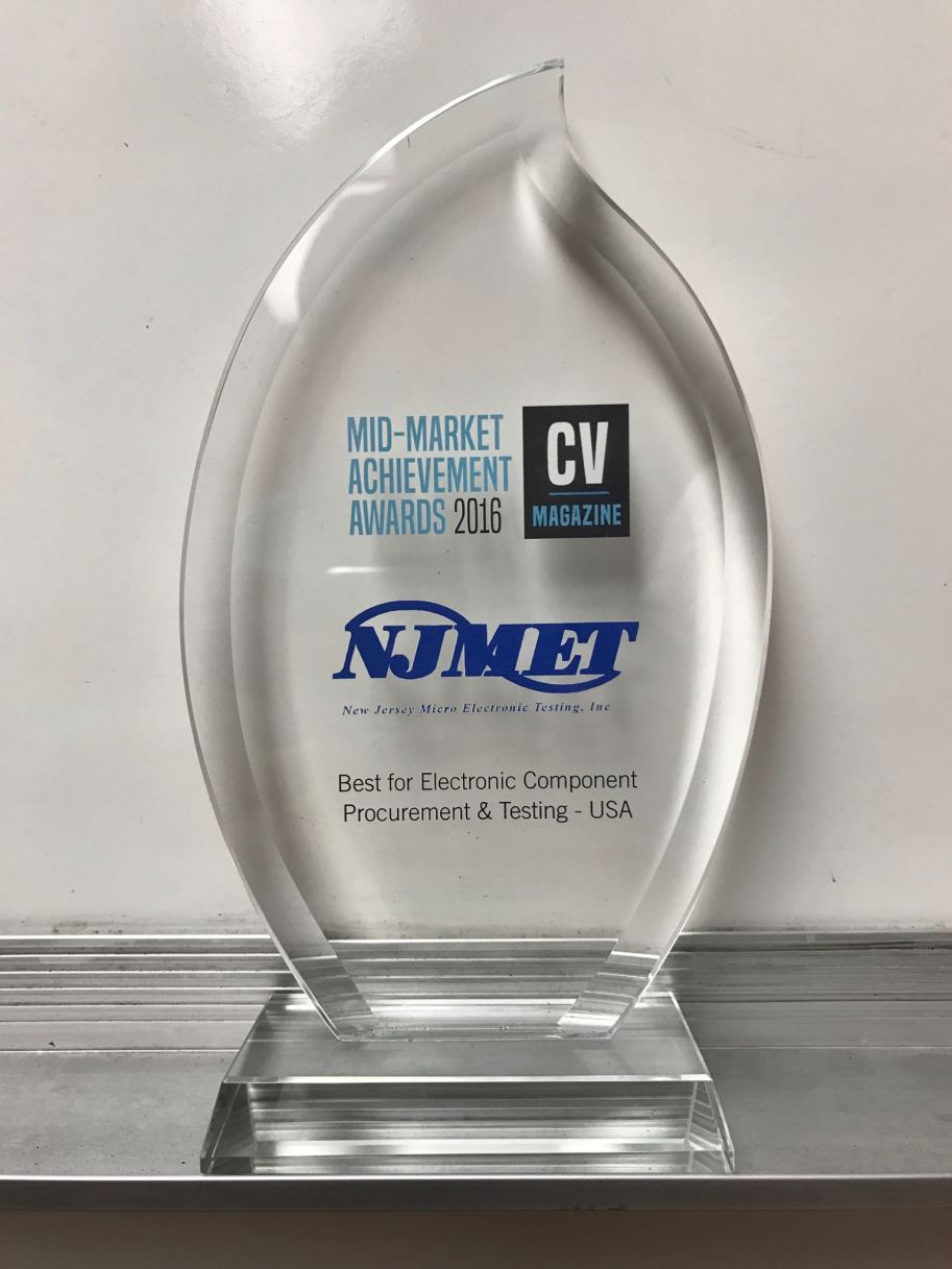 NJ MET won Corporate Vision Magazine 2016 Mid-Market Achievement Award