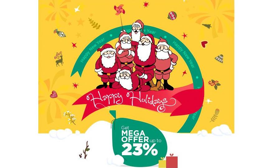 GRAB MEGA DISCOUNT ON FESTIVITY OF NEW YEAR & X-MA