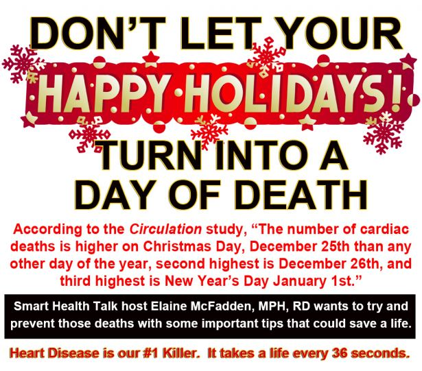 Holidays can bring joy and happiness, but also can increase heart attack risk