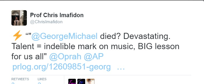 George Michael-Tweet