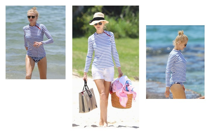 Celebrity Nicole Kidman Covers Up In Sun Protective Rashguard