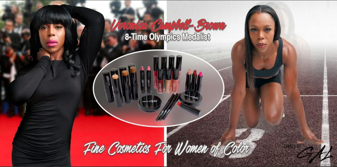 Veronica Campbell-Brown endorses Shades by GAL Fine Cosmetics for Women of Color