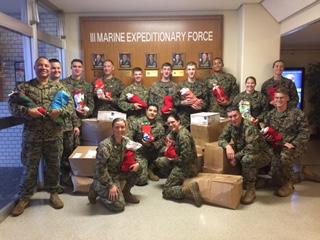 Troops Receiving Christmas Stockings