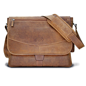 The Updated Premium Leather Messenger Bag by MacCase