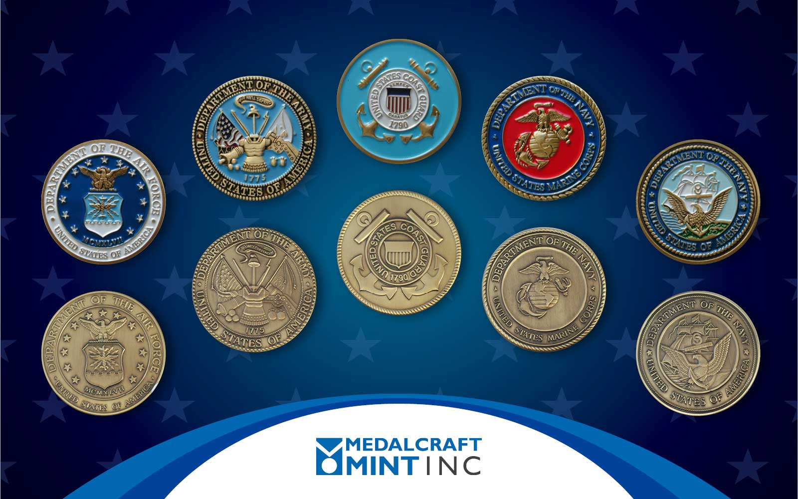 Medalcraft Mint Makes Its Custom Military Challenge Coins