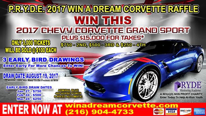 P.R.Y.D.E. 2017 Win a Dream Corvette