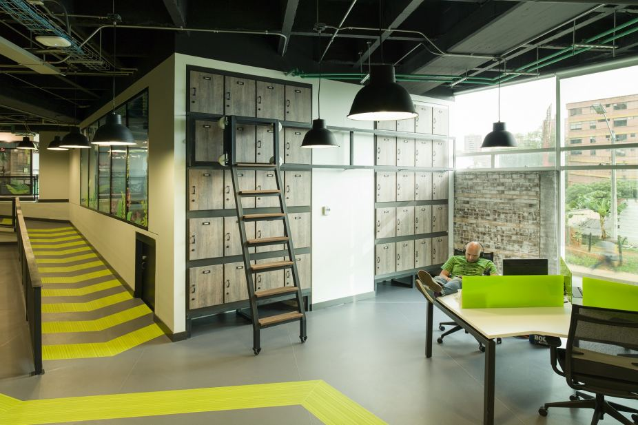 Diseño de oficinas Globant Medellin