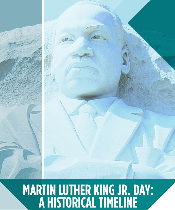 Martin Luther King Jr National Holiday Free Infographic