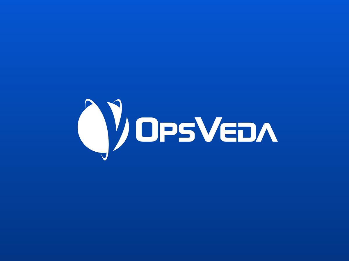 OpsVeda white on blue