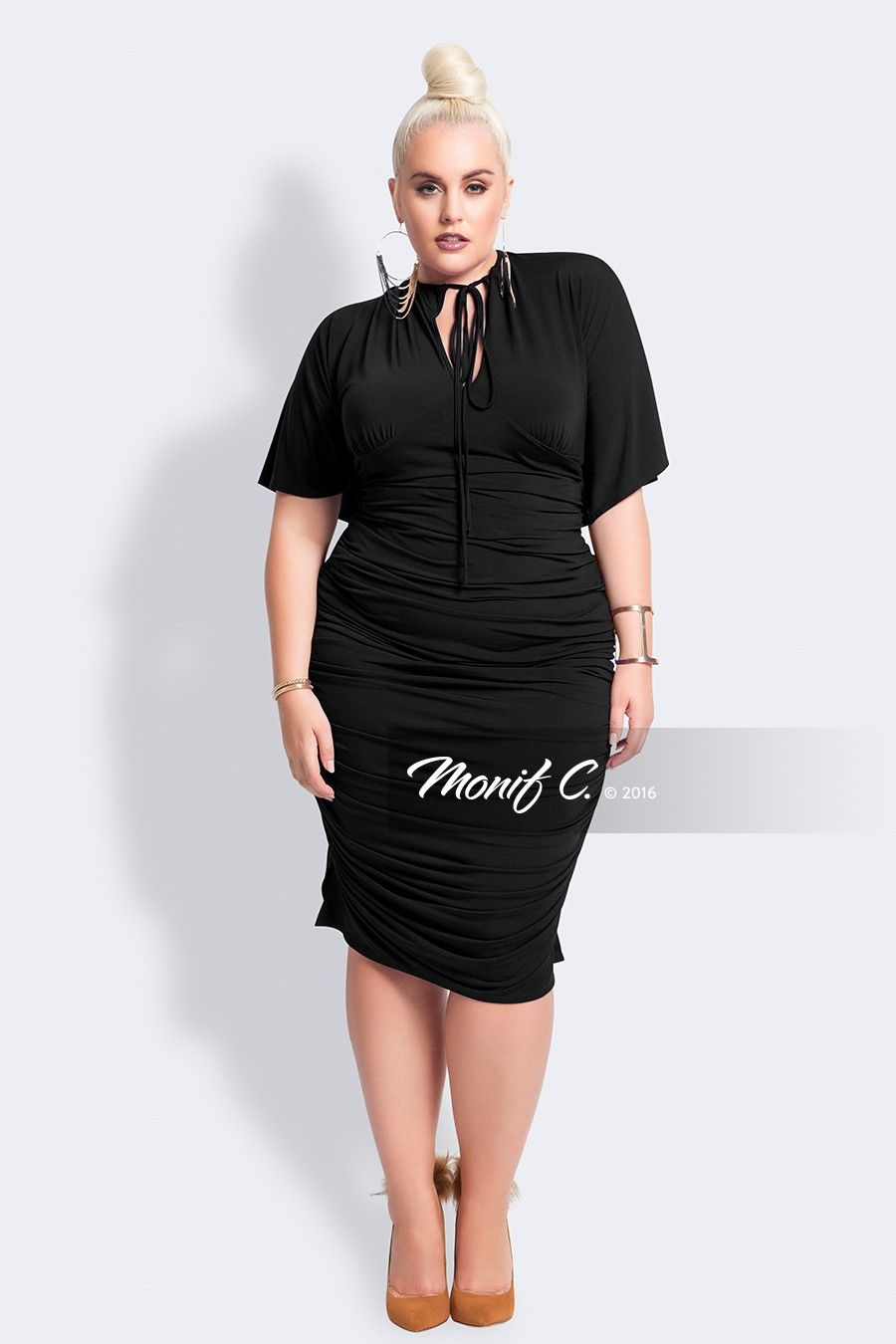 926a0dca269 nelliblackfrontjpg-Monif C. Plus Size dress