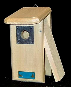 Backyard Bluebird House with Slate Predator Guard