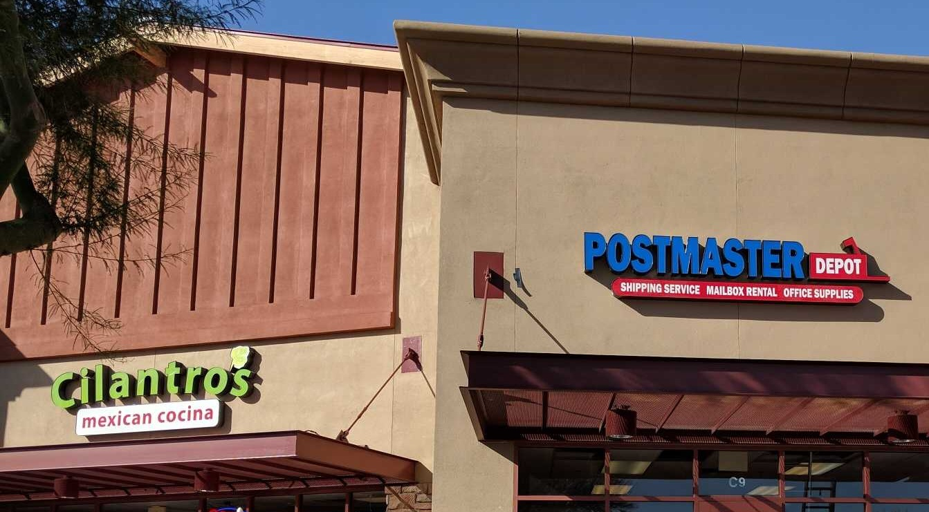 postmaster depot celebrates shipping service mailbox rental and