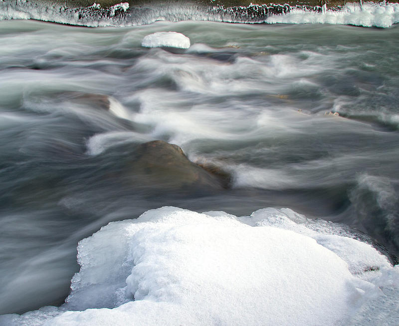 Snow melting can cause severe flooding