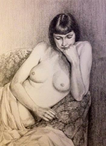 Paul Noel ~ 'A Quiet Moment' ~ Graphite on Paper