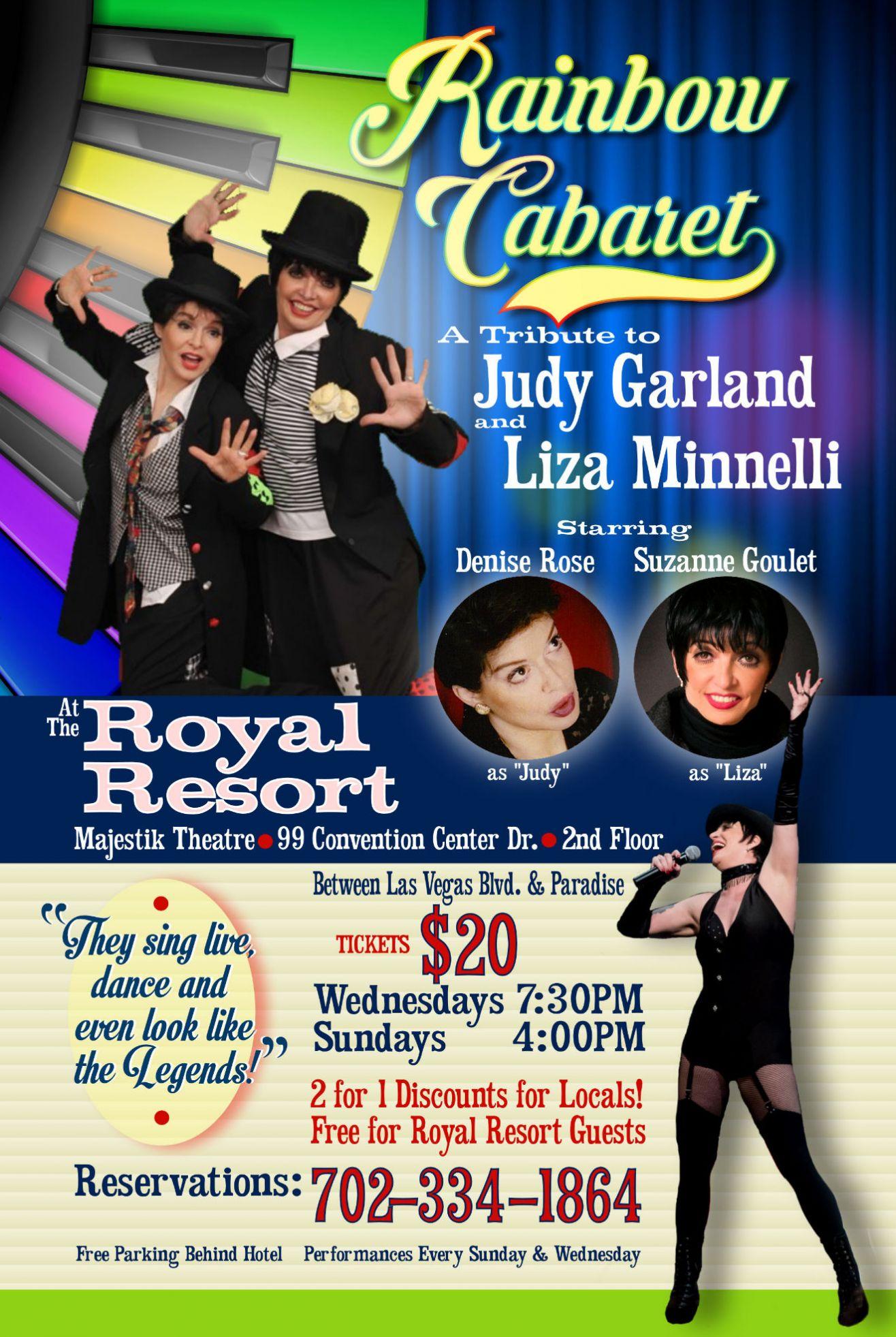 """Rainbow Cabaret"" Tribute to Liza Minnelli & Judy Garland"