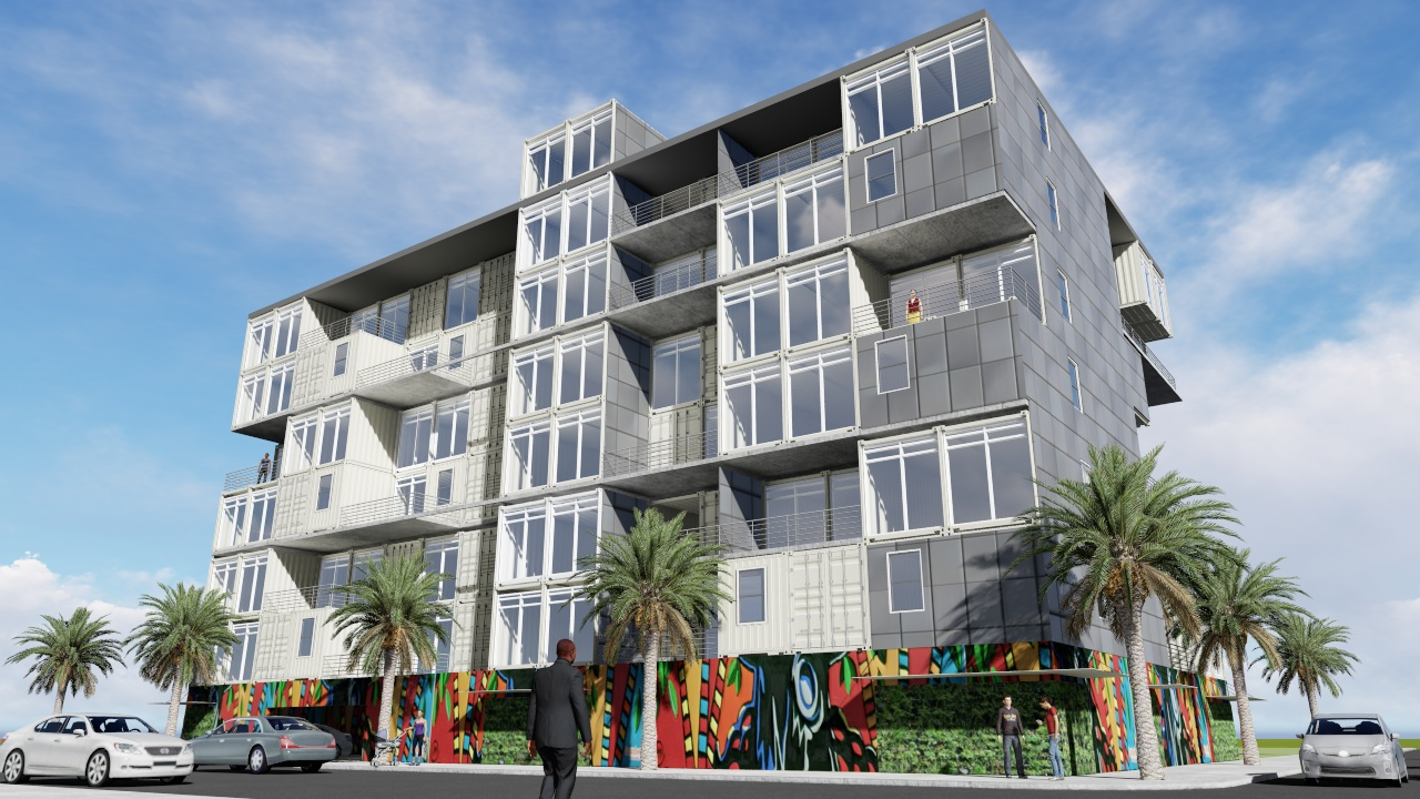 Shown is a rendering of the proposed LaCroix Lofts