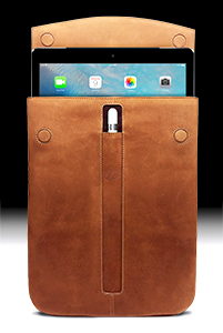 MacCase Premium Leather iPad Pro 9.7 Sleeve shown in Vintage