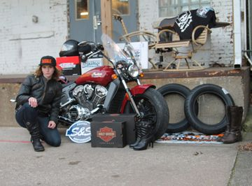 Leah M., the 2016 winner of the Garage-Girls Ultimate Biker Makeover