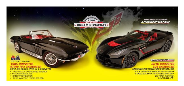 The Corvette Dream Giveaway Winner will be awarded these Vettes February 3rd.