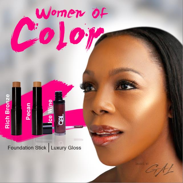 Veronica Campbell-Brown wearing Shades by GAL cosmetics